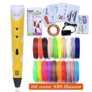 3D Pen With 100/200M Plastic ABS Filament
